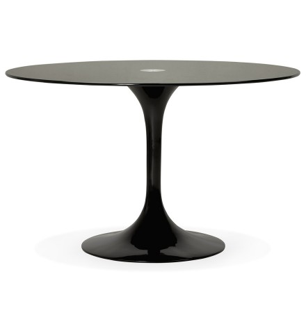 Table a diner design ronde ALEXIA noire - Alterego