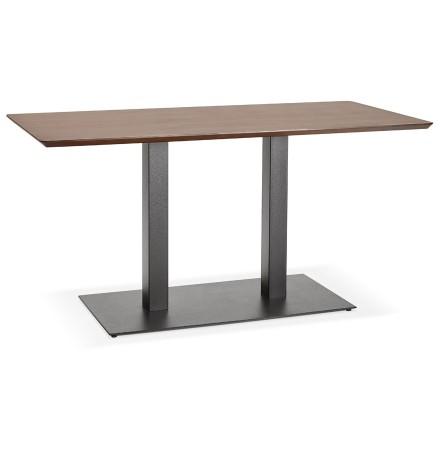 Table / bureau design 'ZUMBA' en bois finition Noyer - 150x70 cm
