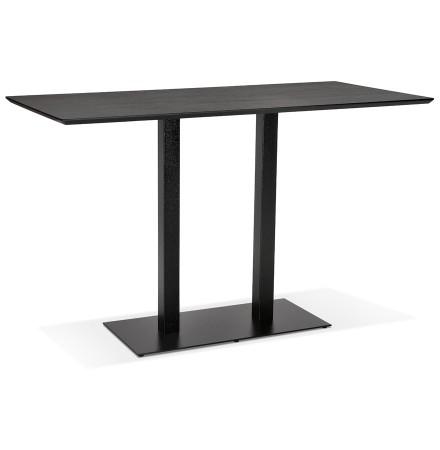 Table haute design 'ZUMBA BAR' noire avec pied en métal noir - 180x90 cm