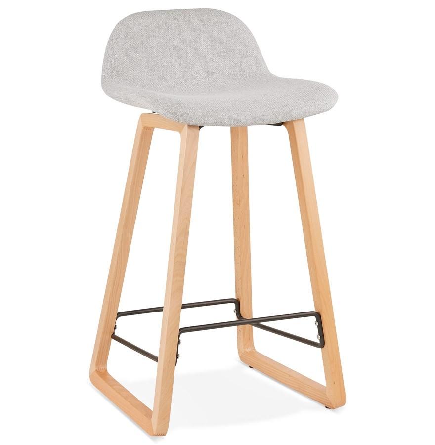 tabouret snack baltik mini en tissu gris clair tabouret scandinave. Black Bedroom Furniture Sets. Home Design Ideas