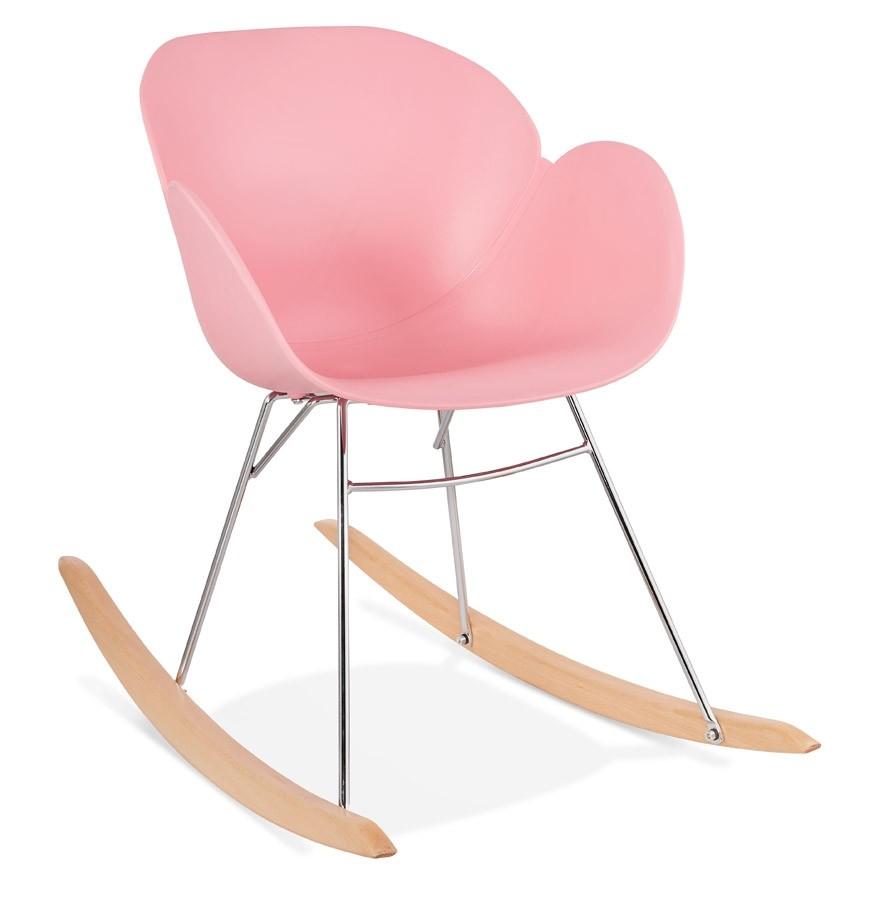 Chaise bascule design baskul rose en mati re plastique for Chaise design plastique