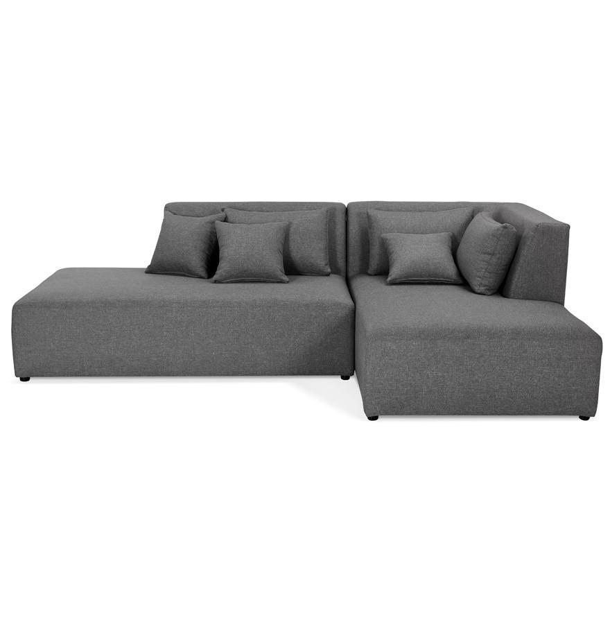 canap modulable belagio l shape gris fonc avec m ridienne droite. Black Bedroom Furniture Sets. Home Design Ideas