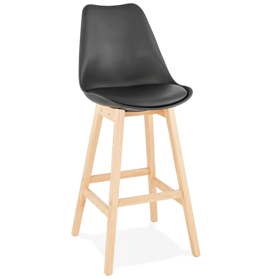 tabouret de bar camila noir style scandinave tabouret design. Black Bedroom Furniture Sets. Home Design Ideas