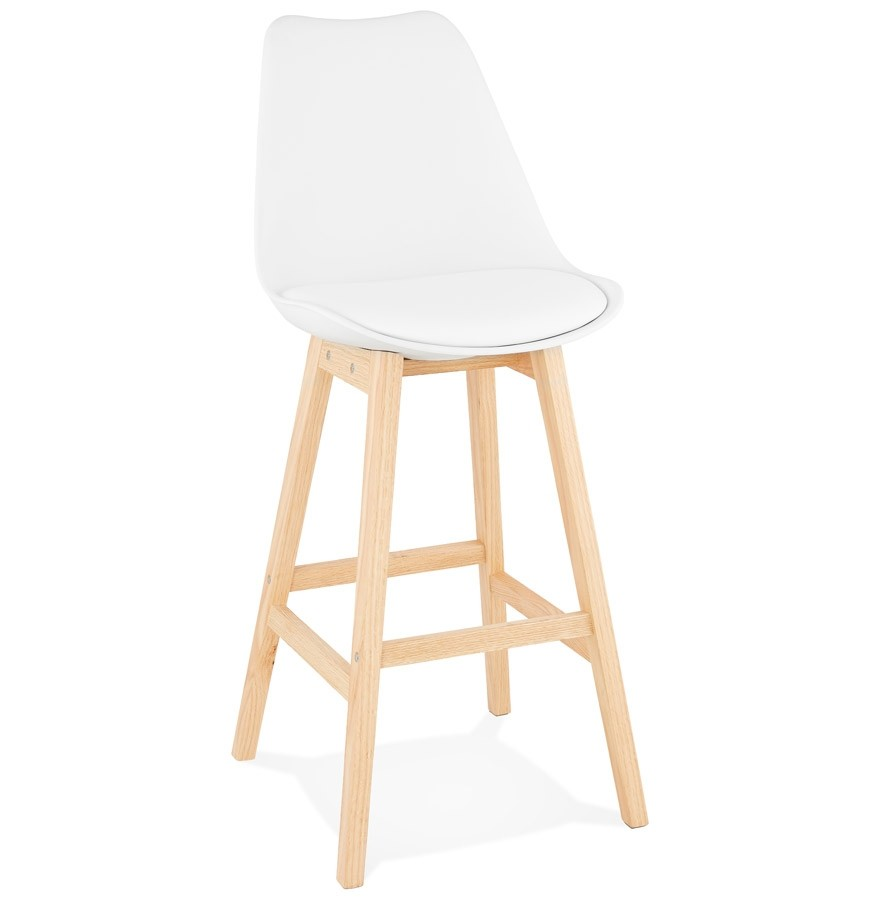 tabouret de bar camila blanc style scandinave tabouret design. Black Bedroom Furniture Sets. Home Design Ideas