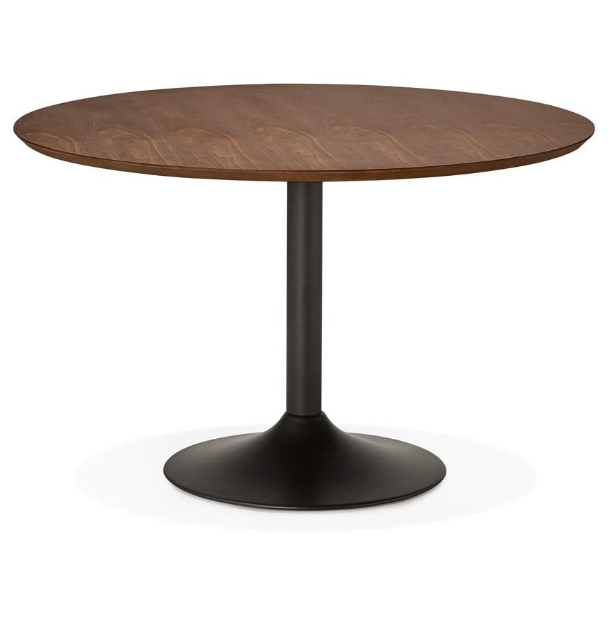 table diner ronde chef en bois finition noyer table de bureau. Black Bedroom Furniture Sets. Home Design Ideas
