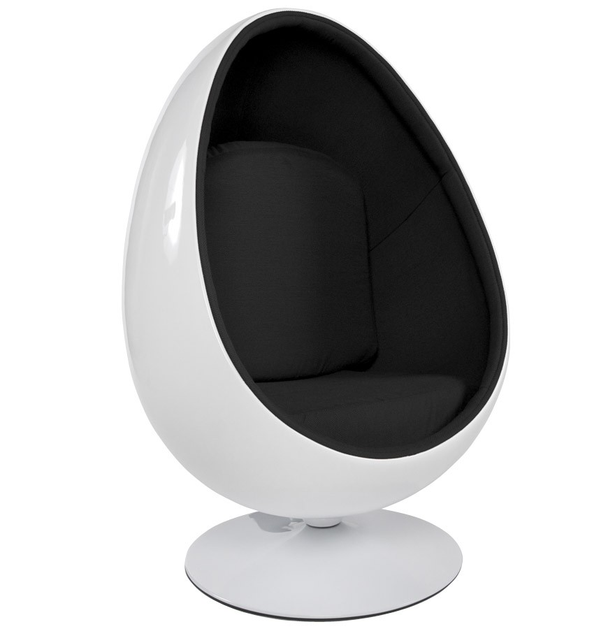 fauteuil uf cocoon blanc et noir fauteuil egg design. Black Bedroom Furniture Sets. Home Design Ideas