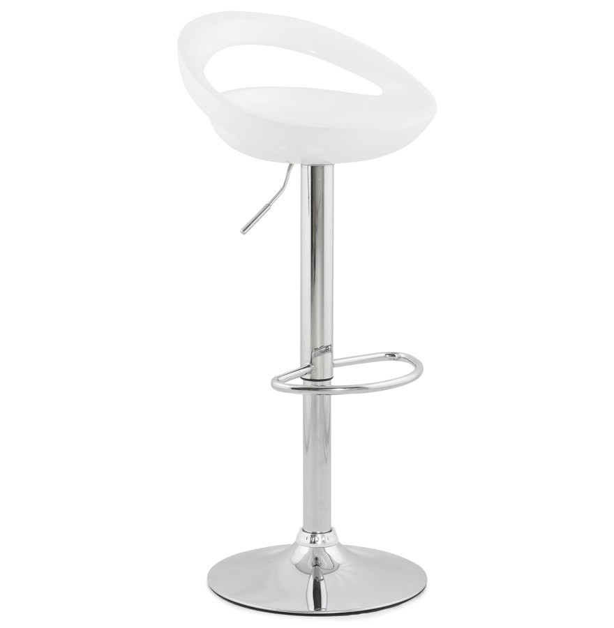 tabouret de bar design comet blanc r glable avec dossier. Black Bedroom Furniture Sets. Home Design Ideas