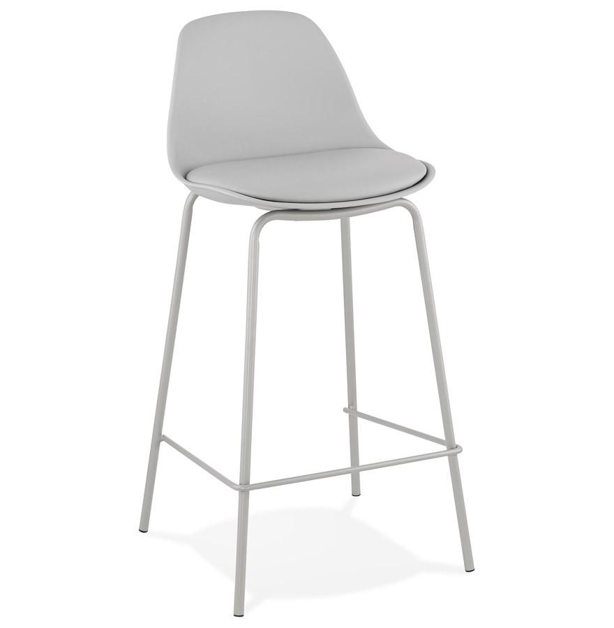 tabouret snack mi hauteur cookie mini gris style industriel. Black Bedroom Furniture Sets. Home Design Ideas