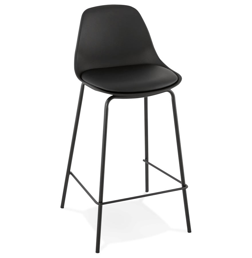 tabouret snack mi hauteur cookie mini noir style industriel. Black Bedroom Furniture Sets. Home Design Ideas