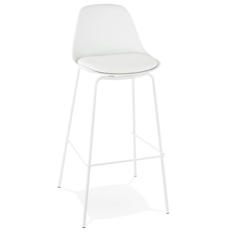 tabouret de bar design cookie blanc style industriel. Black Bedroom Furniture Sets. Home Design Ideas