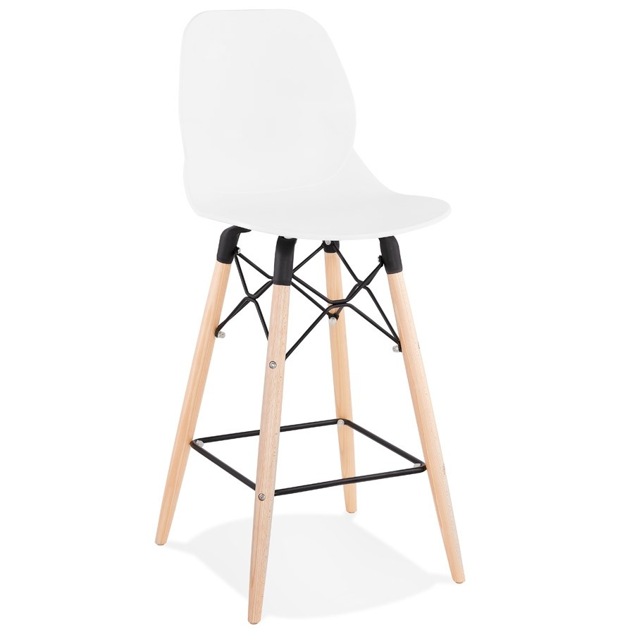 tabouret snack mi hauteur cosmik mini blanc style scandinave. Black Bedroom Furniture Sets. Home Design Ideas
