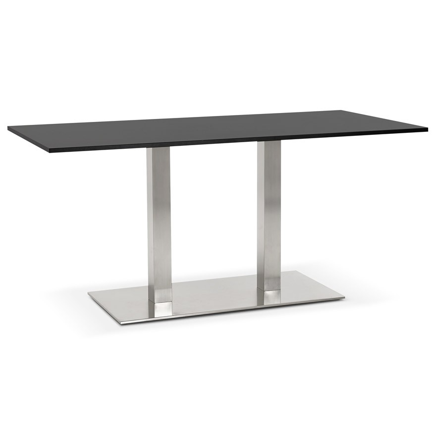 Table de r union denver noir 160x80 cm bureau design for Table bureau design