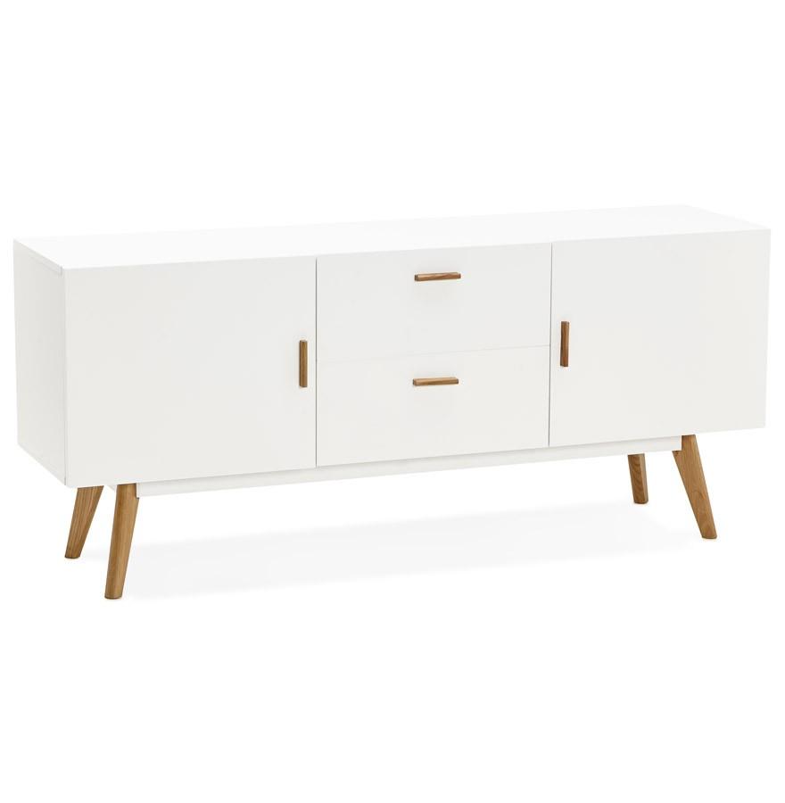Bahut Design Diego En Bois Blanc Style Scandinave # Bahut Scandinave