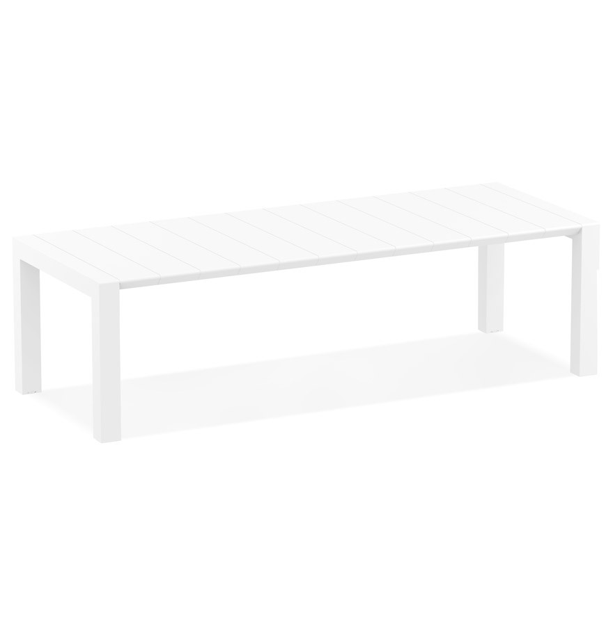 Table de jardin extensible ELASTIK LARGE blanche