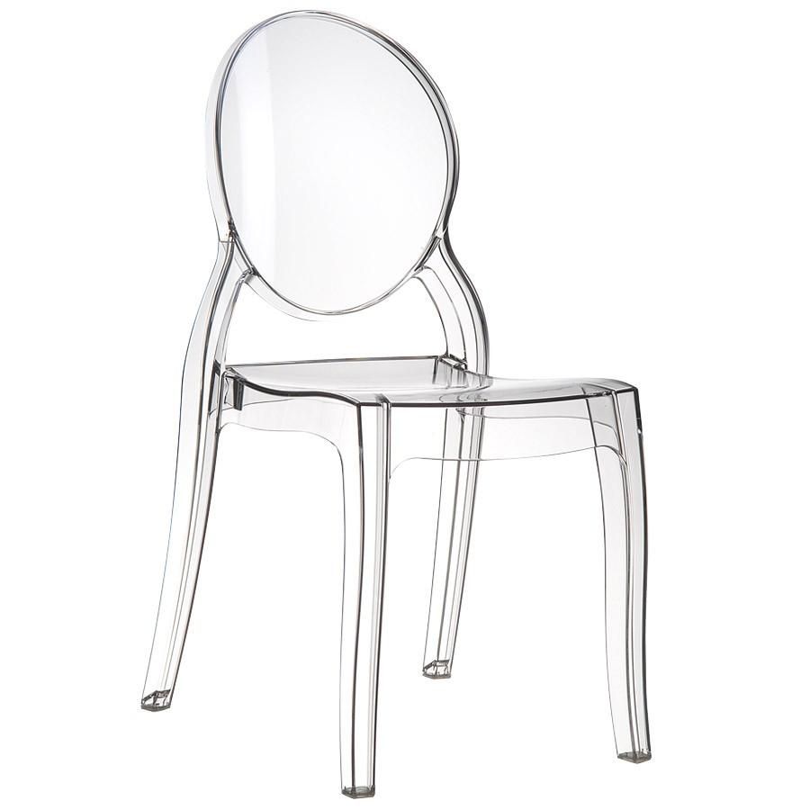 Transparente Matière 'eliza' Chaise Plastique En Médaillon nO8mvNw0