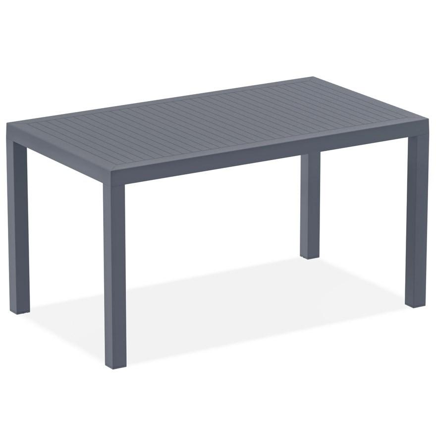 Table de jardin \'ENOTECA\' design en matière plastique grise foncée - 140x80  cm