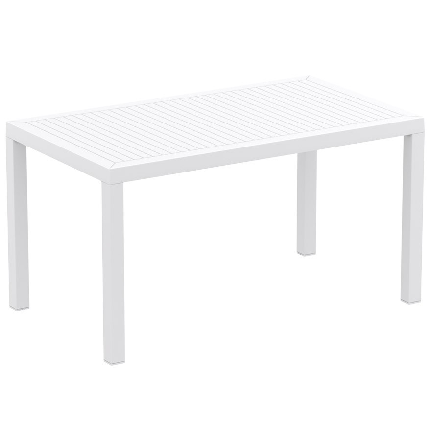 Table de jardin \'ENOTECA\' design en matière plastique blanche - 140x80 cm