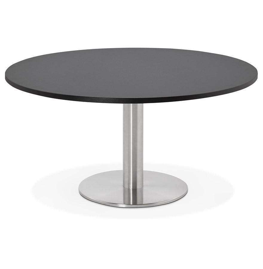 Table Basse Design Houston Noire 90 Cm Table Lounge