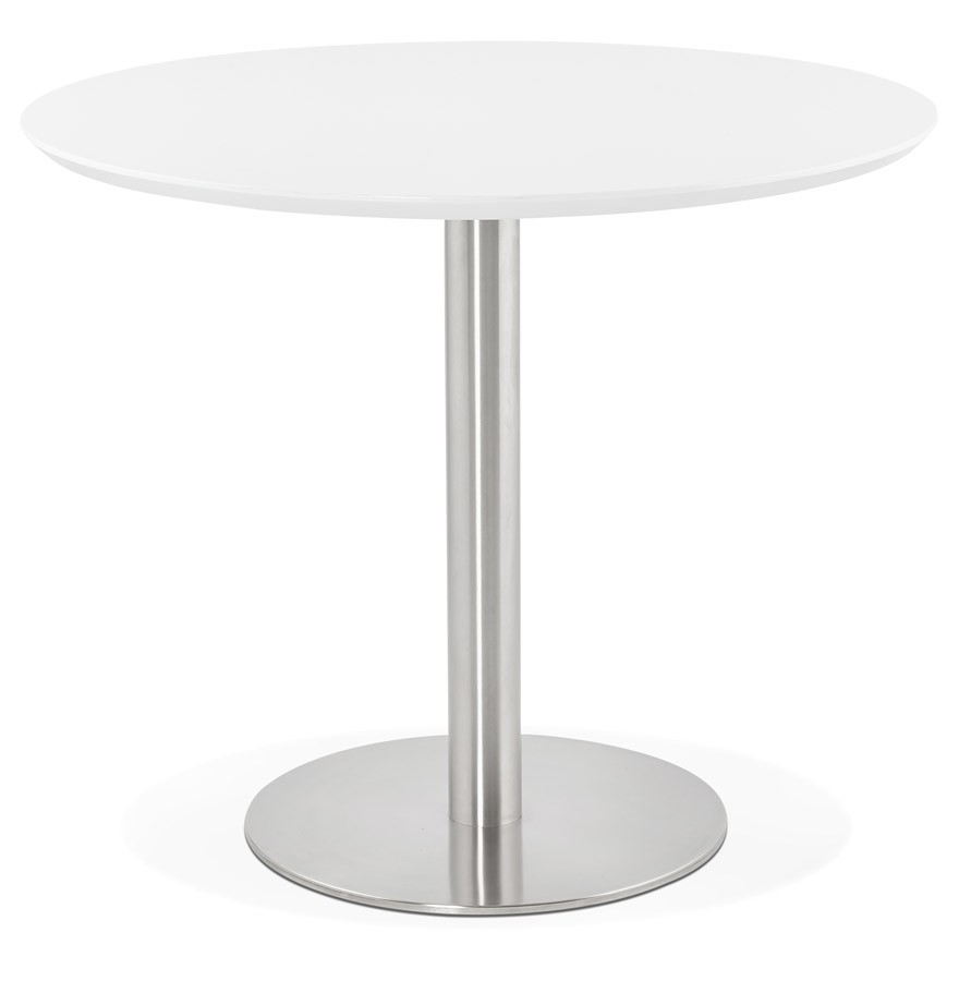 Table de bureau ronde indiana blanche 90 cm table diner - Bureau 90 cm de large ...
