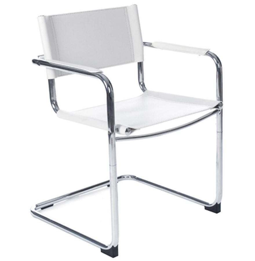 Chaise visiteur KA blanche pour bureau ou salle de runion
