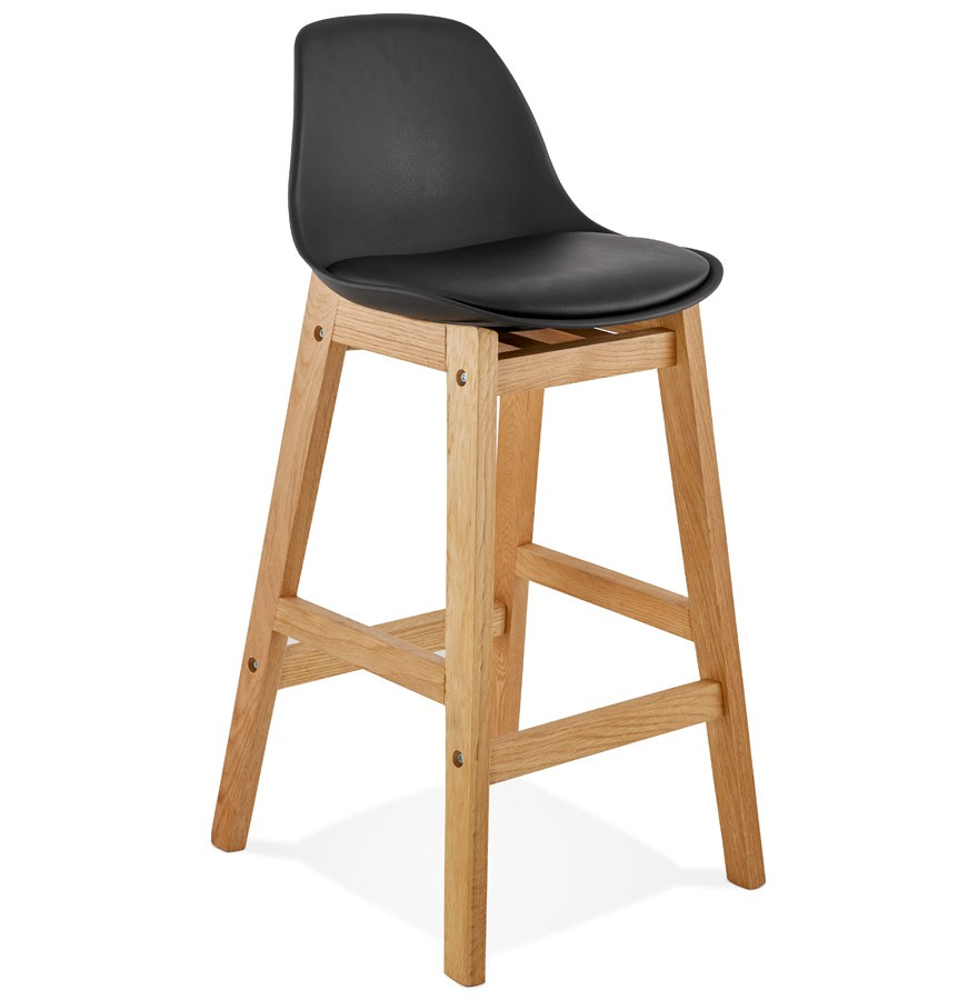 tabouret snack mi hauteur kiko mini noir style scandinave. Black Bedroom Furniture Sets. Home Design Ideas