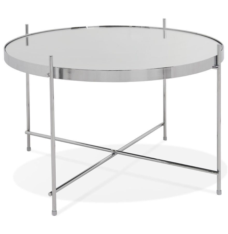 Taille Table Basse Standard table basse 'kolos medium' couleur chrome