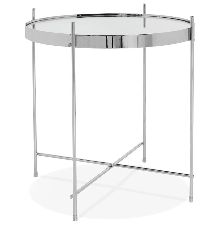 Couleur D'appoint Chrome 'kolos' Table Pliable qUjGzVLSpM