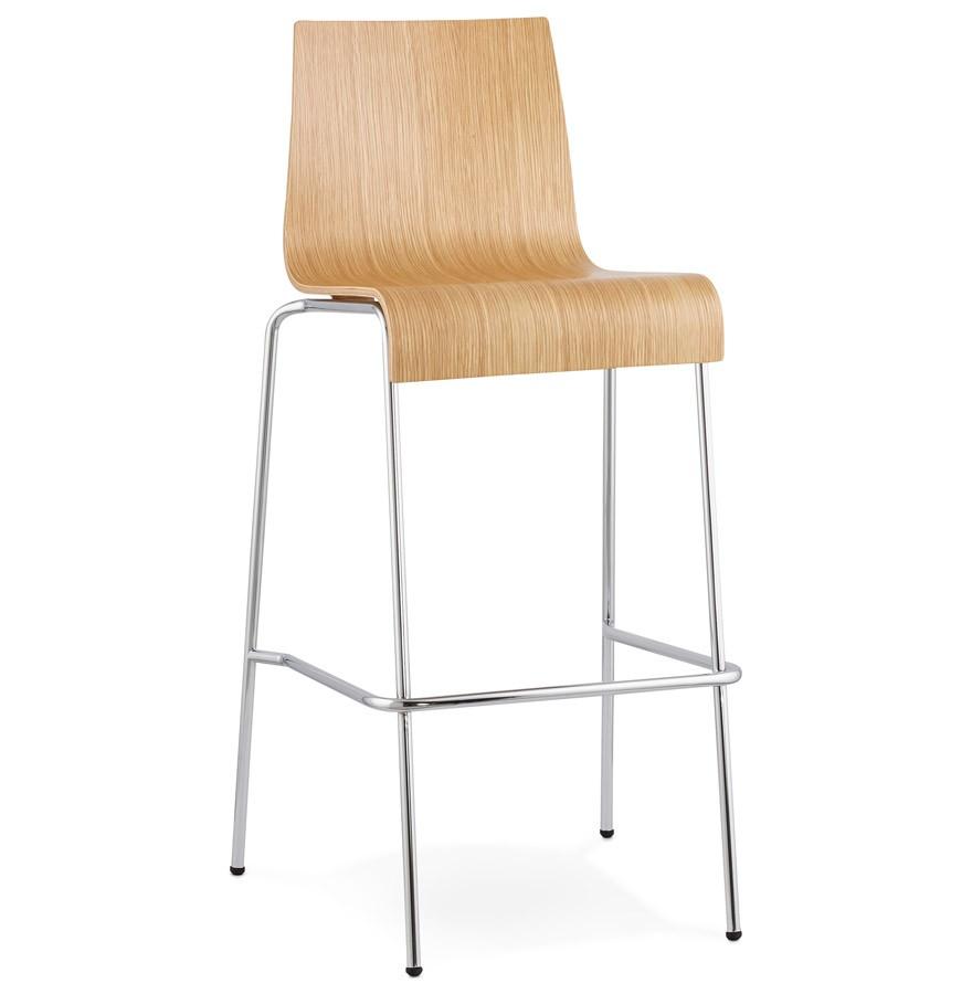 tabouret haut kwatro bois finition naturelle tabouret design. Black Bedroom Furniture Sets. Home Design Ideas