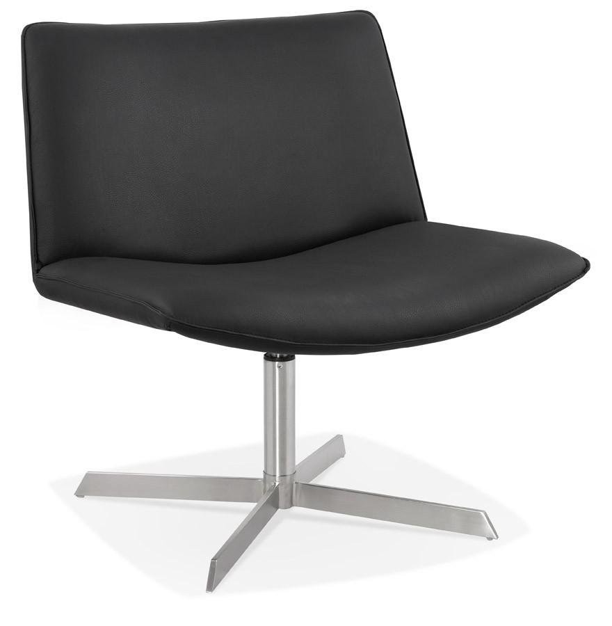 fauteuil design pivotant macao en mati re synth tique noire. Black Bedroom Furniture Sets. Home Design Ideas