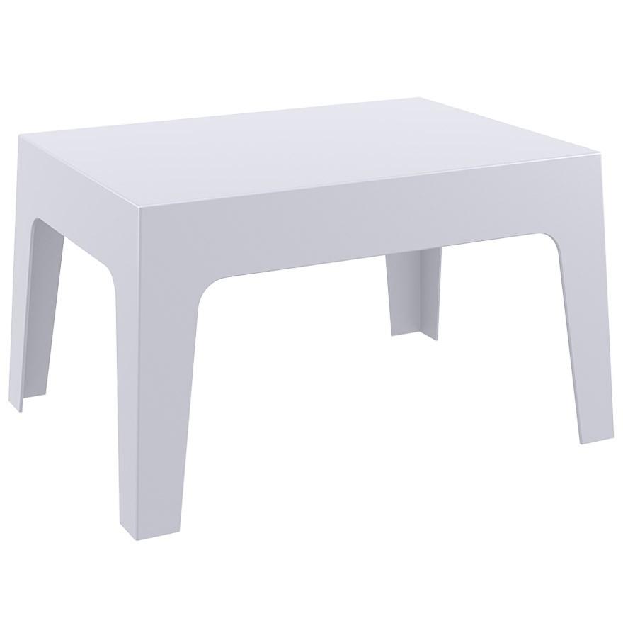 Table basse de jardin MARTO grise claire en matière plastique