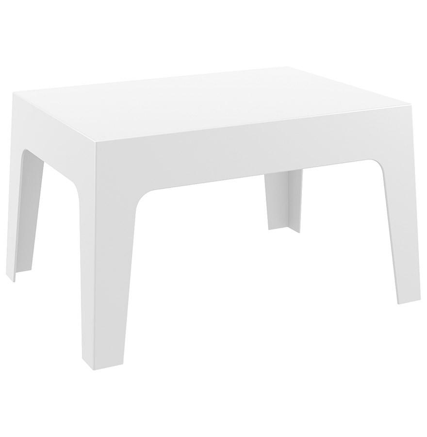 Table basse \'MARTO\' blanche en matière plastique
