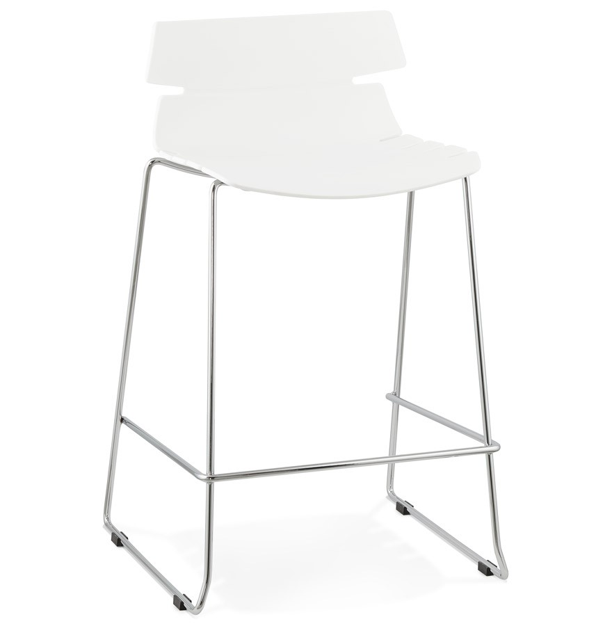 tabouret snack mary mini blanc moderne tabouret mi hauteur. Black Bedroom Furniture Sets. Home Design Ideas