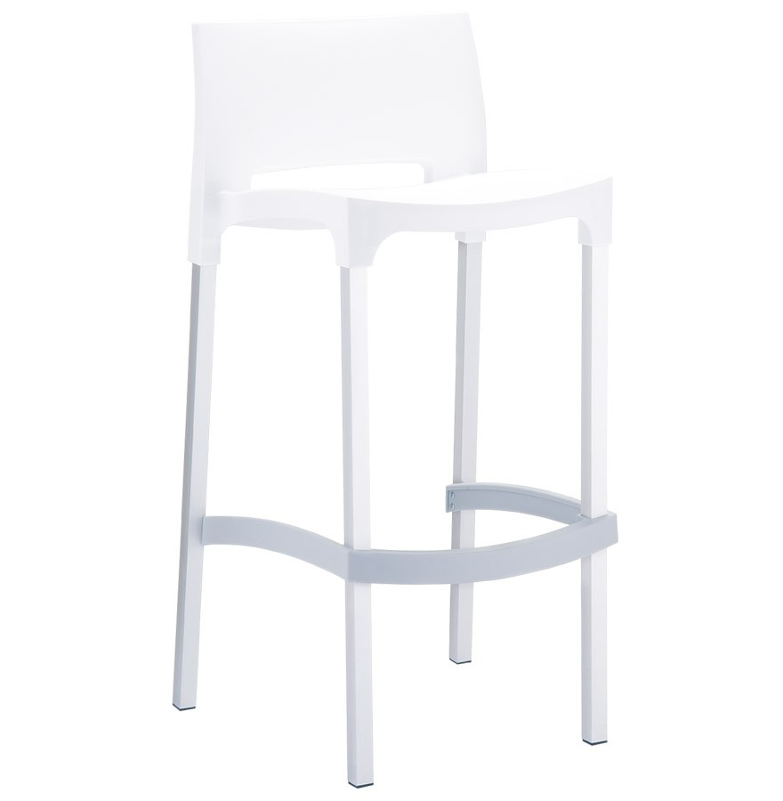 tabouret de bar maty blanc pour ext rieur et int rieur. Black Bedroom Furniture Sets. Home Design Ideas