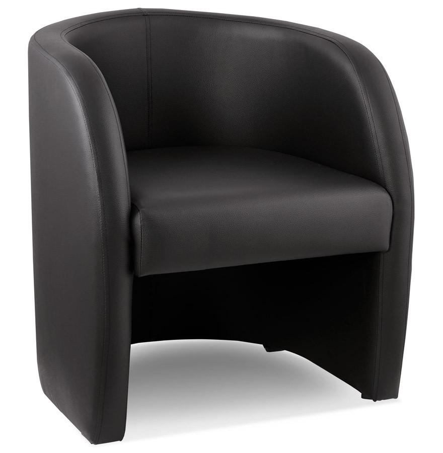 Fauteuil cabriolet max noir fauteuil de salon canap design - Fauteuils salon design ...