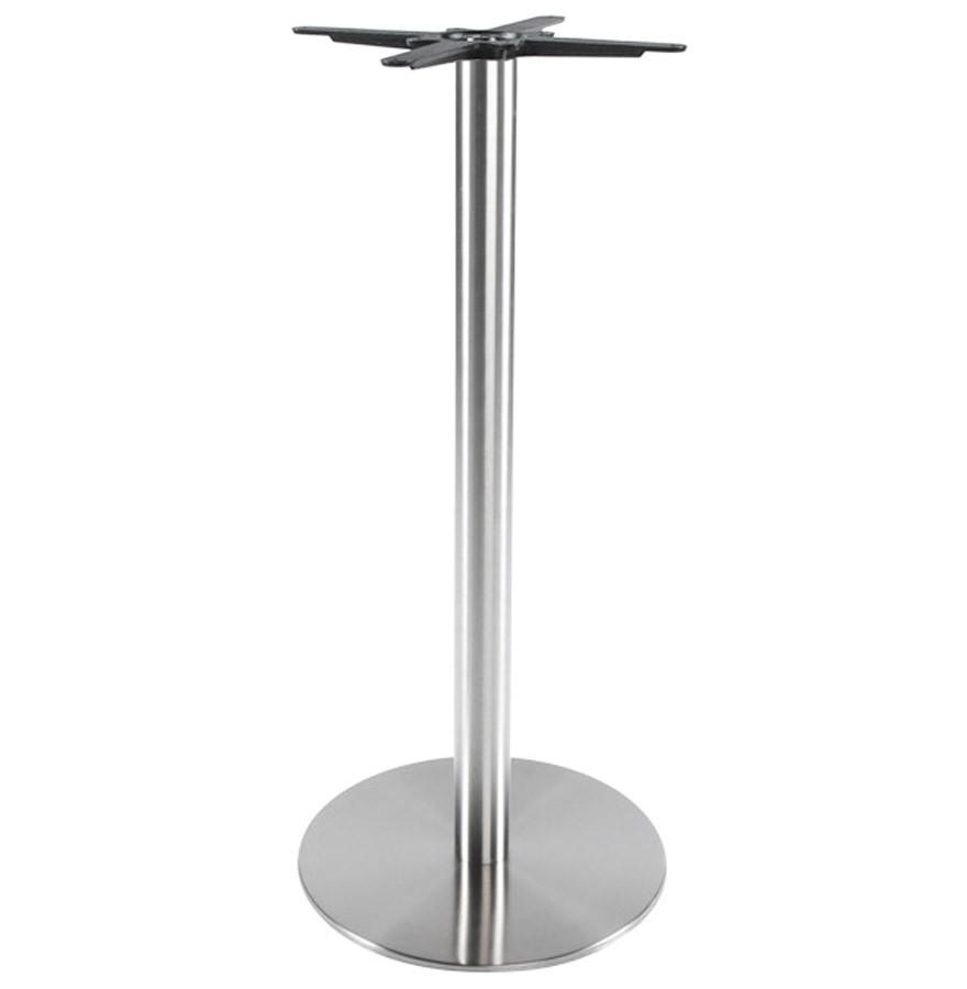 pied de table plato 110 acier bross base ronde pour table haute. Black Bedroom Furniture Sets. Home Design Ideas