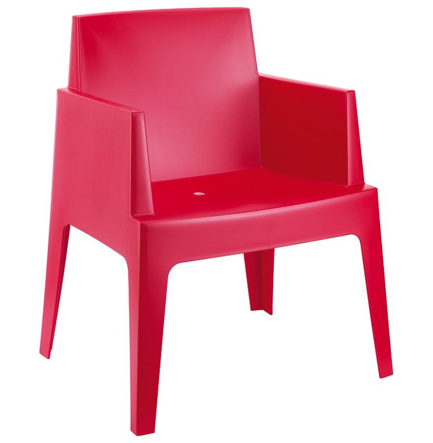 Chaise Design PLEMO Rouge En Matiere Plastique