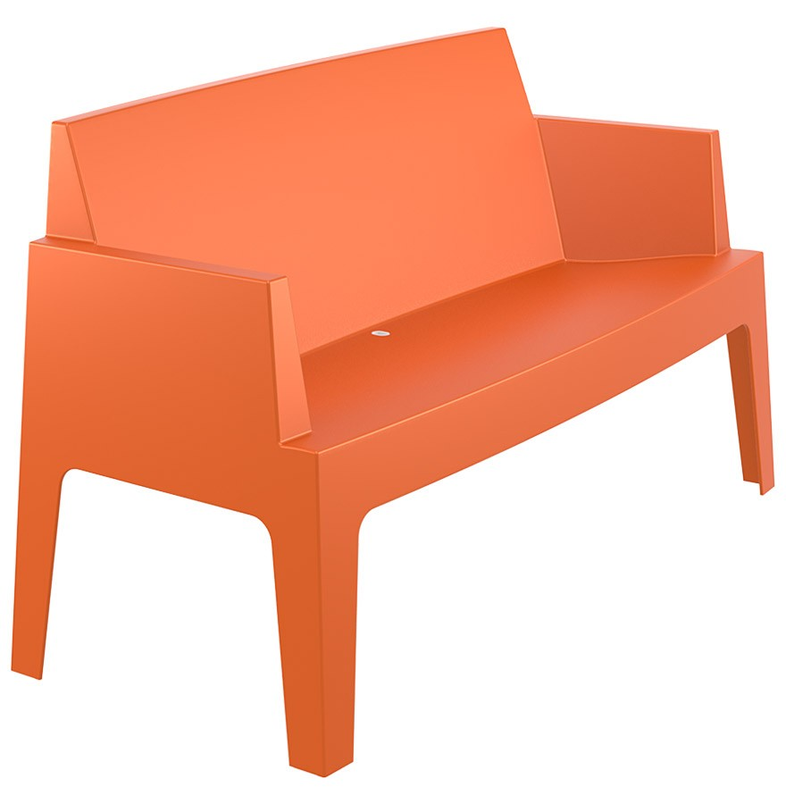 Banc de jardin design plemo xl orange en mati re plastique - Banc de jardin en plastique ...