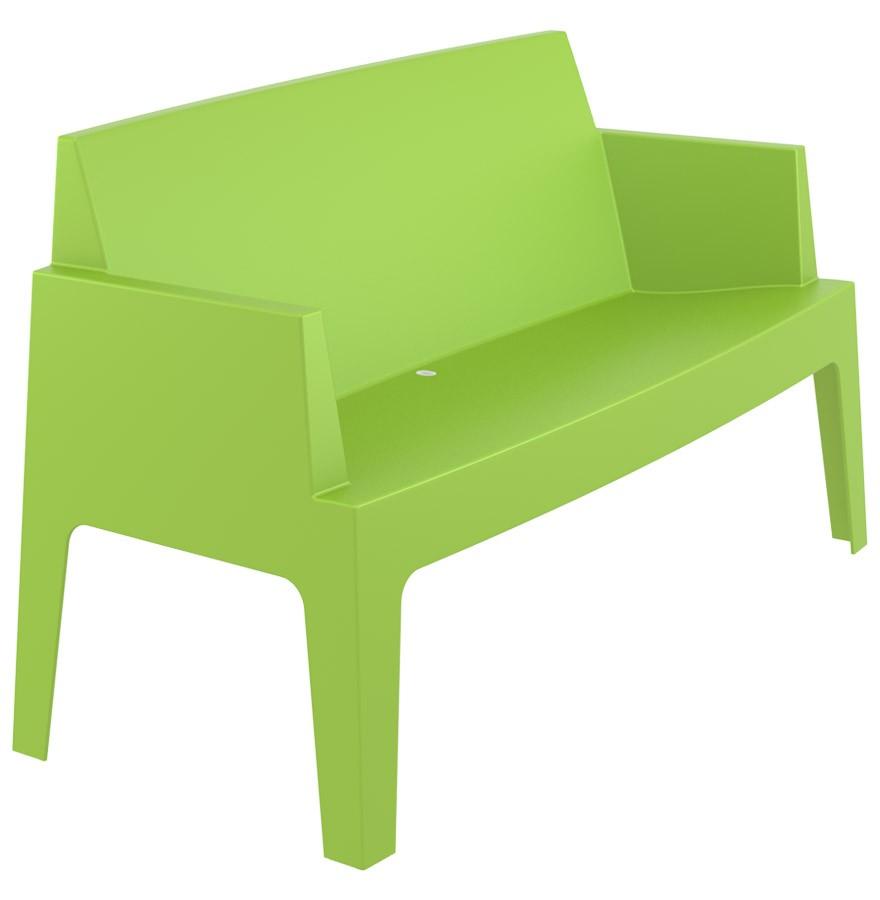 Banc de jardin design PLEMO XL vert en matière plastique