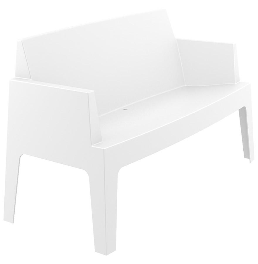 Chaise Design Plemo Xl Banc De Jardin Blanc En Matière Plastique