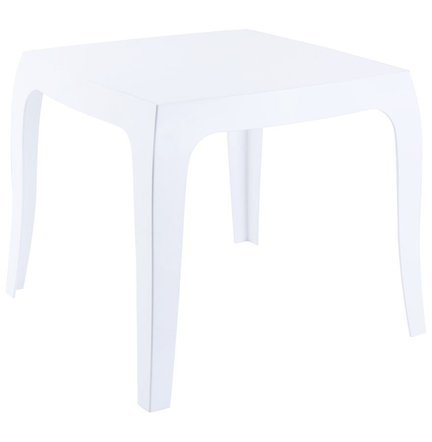table d 39 appoint retro blanche petite table design. Black Bedroom Furniture Sets. Home Design Ideas
