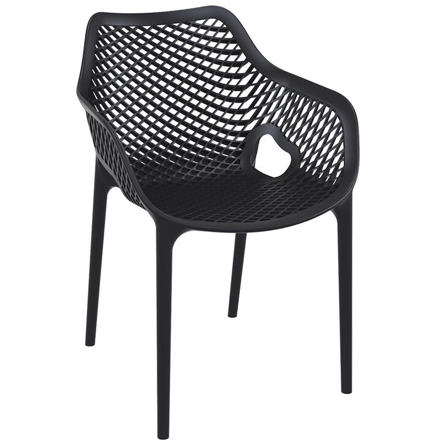 Chaise en plastique 'SISTER' terrasse de jardin noire matière edCBQxoWEr