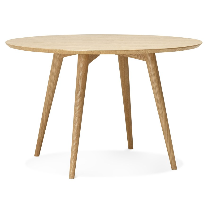 Table d ner ronde swedy en bois style scandinave 120 cm for Petite table ronde scandinave
