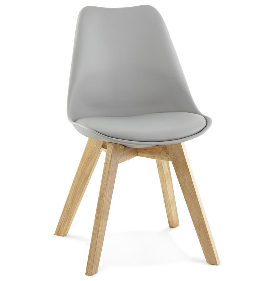 Chaise Moderne Teki Grise Chaise Scandinave