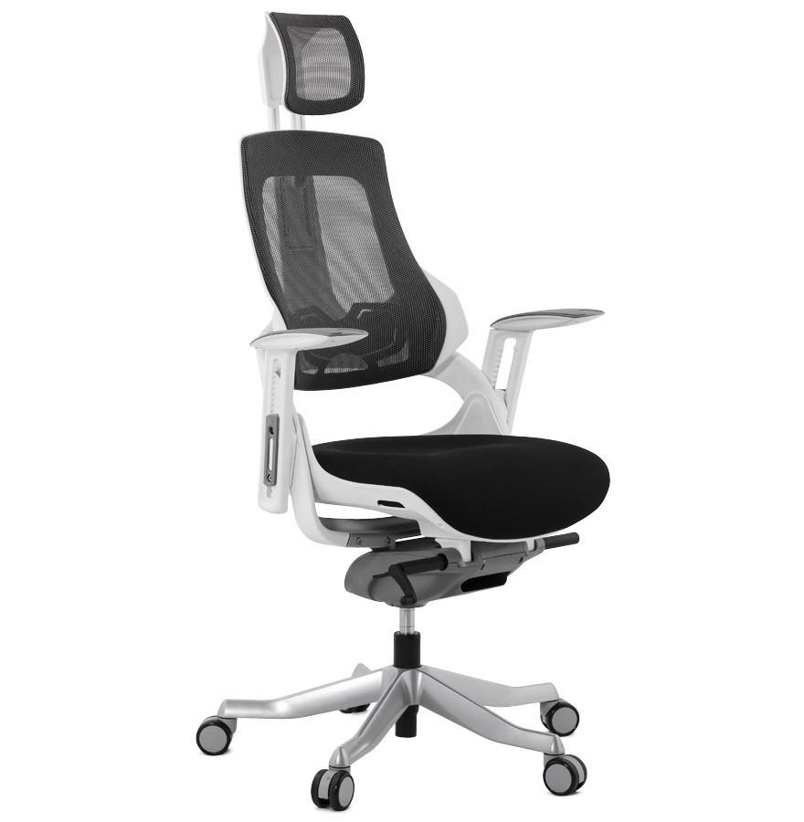 Fauteuil de bureau ergonomique teknik design en tissu noir - Chaise de bureau ergonomique ...