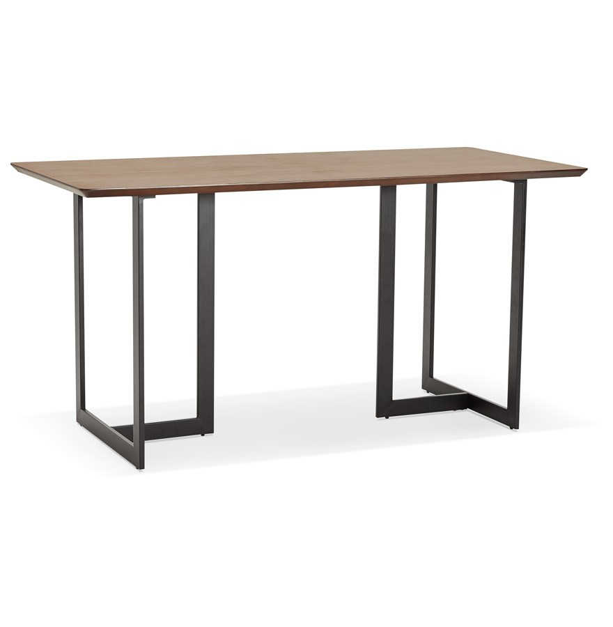 Table design TITUS en bois de noyer - Bureau moderne 150x70 cm