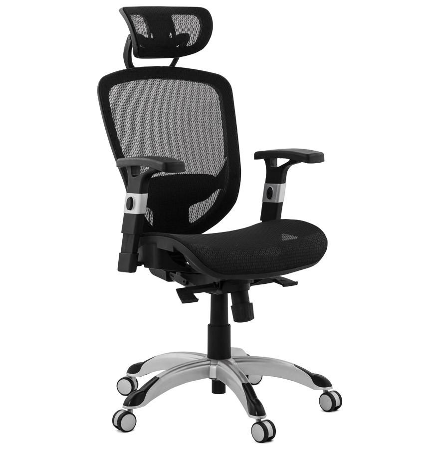 Fauteuil de bureau ergonomique design TYPHON noir
