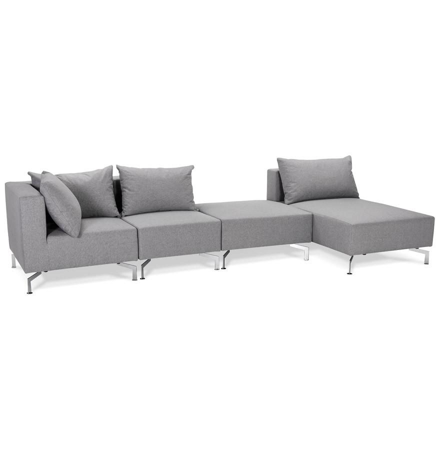 Grand canapé d angle VOLTAIRE XL gris Canapé modulable
