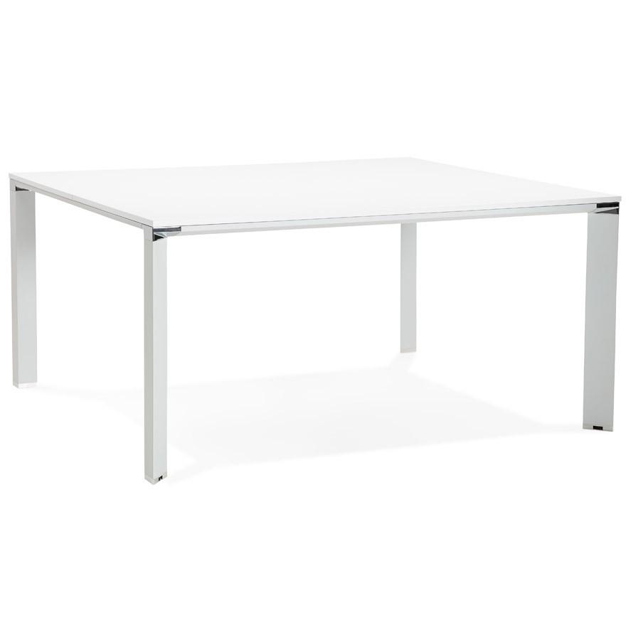 Table De Réunion Bureau Bench Xline Square Blanc 160x160 Cm