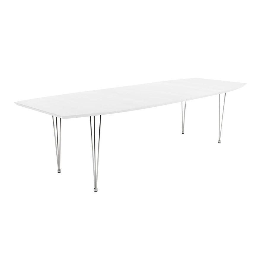 Table design xtend extensible blanche table de r union for Table a diner extensible