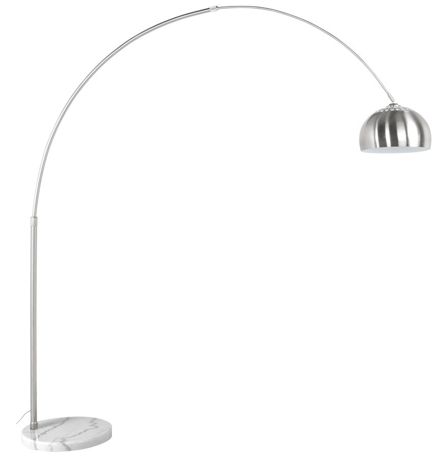 lampadaire en arc xxl acier bross style retro luminaire design. Black Bedroom Furniture Sets. Home Design Ideas
